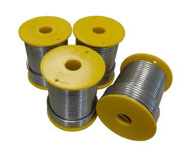 Draadsoldeer Tin / Lood per doos a 4 kg 50/50 Massief 3mm (1kg/Spoel)