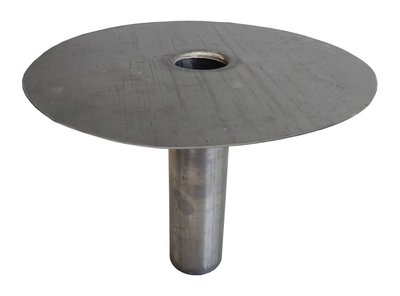 Dakdoorvoer Plakplaat steekstuk Lood diameter 80 mm