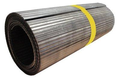 Ribbellood volledig geribbeld op rol Code 18 25cm x 300cm (13,5kg/rol)