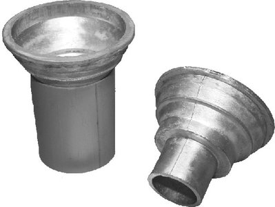 Balkondoorvoer Hard lood diam. 100 mm inclusief PVC stortkoker