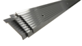 Loodknelstrip Aluminium 50 mm x 2,5 meter incl gaten